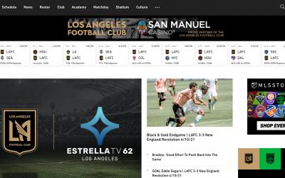 LAFC lanza un nuevo e innovador sitio web