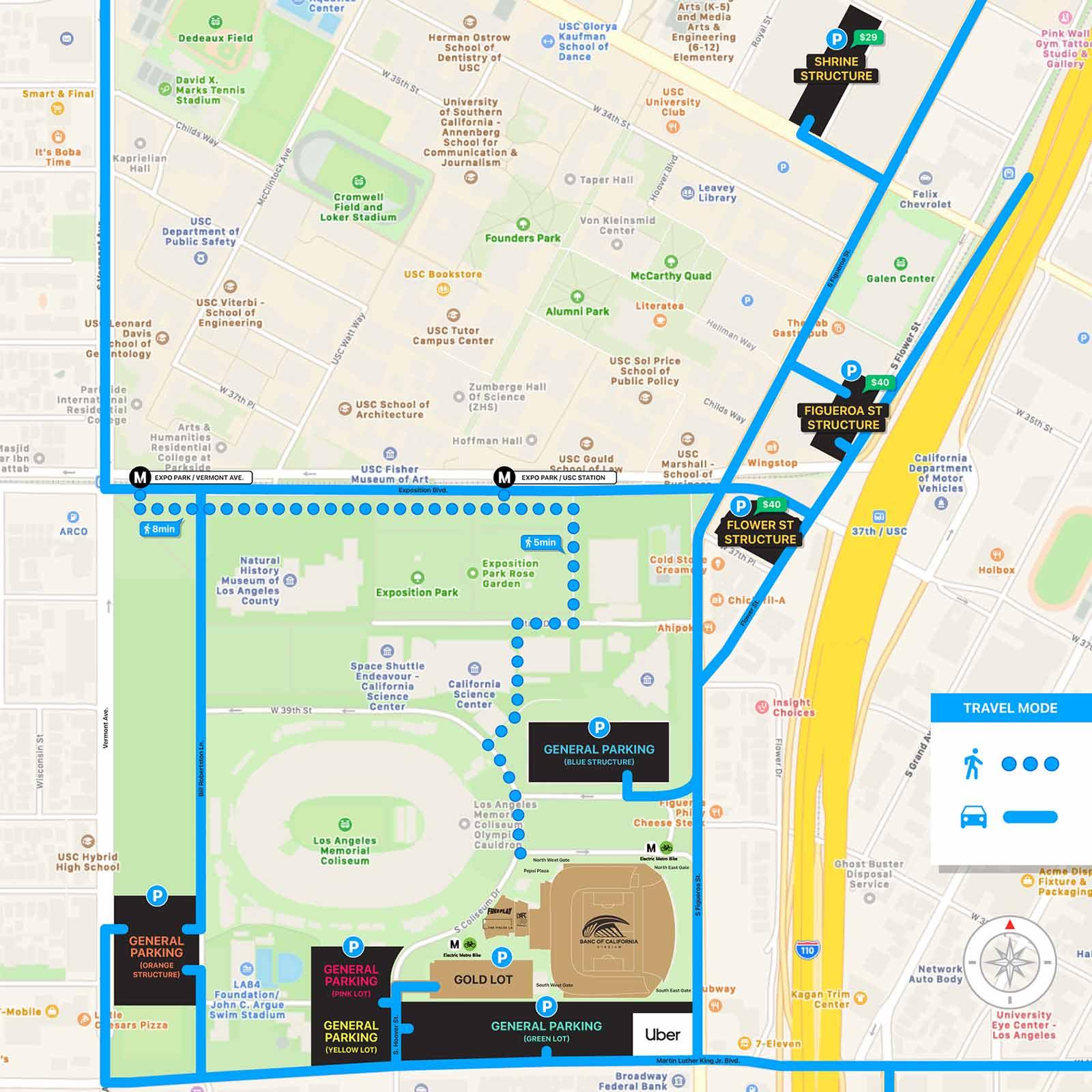 Expo Park Parking Map