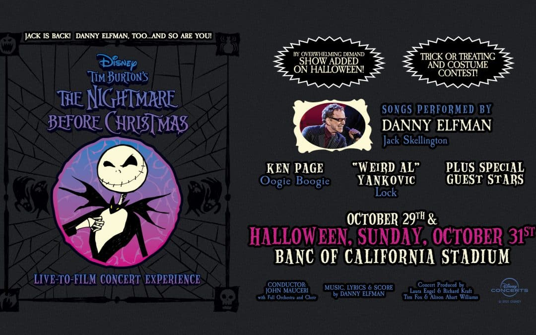 Nightmare Before Christmas second show added On Halloween