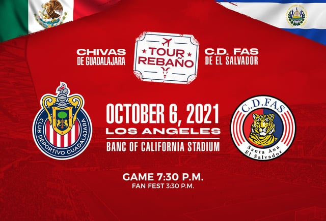 Chivas De Guadalajara & C.D. FAS To Meet At Banc Of California Stadium October 6
